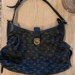 Louis Vuitton Mahina Black Denim Boho style HTF